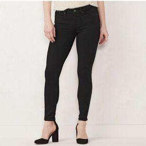 LC Lauren Conrad black super skinny jeans Sz8